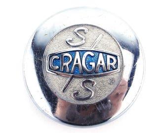 vintage wheel center cap. cragar SS. chrome wheel cap. car parts. car accessories. vintage car parts. wheel center cap. vintage car parts