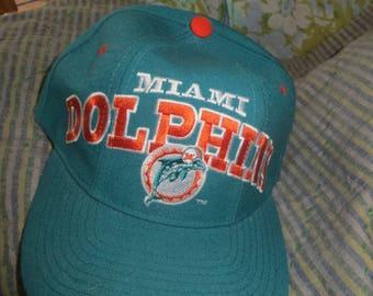 VTG Miami Dolphins NFL Baseball Wool  Cap Golf Hat Snapback Football  Starters Pro Line