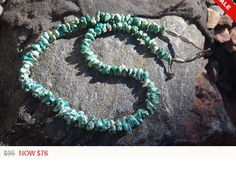 """Vintage Navajo Turquoise Necklace, """"Turquoise Nuggets"""""""