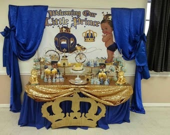 Blue and gold prince banner 4 x 6 ft (You Print)