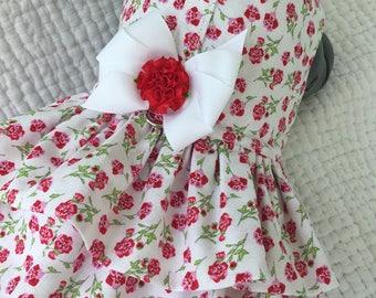 Shabby Chic Double Ruffled  Dog Dress.