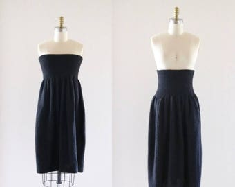ON SALE alpaca knit high waist skirt / dress