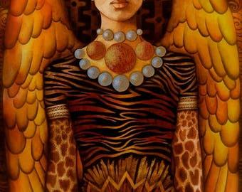 African Angel - A Fine Art Greeting Card