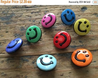 """SALE Smiley Face Buttons, Packaged Novelty Buttons by Buttons Galore, """"Smileys"""" Style 4200, Shank Back Buttons, Sewing, Crafting Embellishme"""