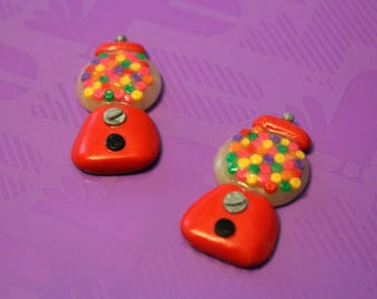 Gumball Machine Polymer Clay Flatback Bow Centers
