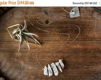 Summer Solstice Sale Botswana Agate Necklace // Agate Drusy Quartz // Wire Wrapped Agate // Crystal Necklace // Gold Filled Chain // Bridesm