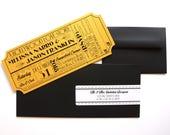 Old Hollywood, Art Deco, Gold Movie Ticket Invitation SAMPLE