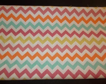 Cheerful Colorful Chevron Cotton Fabric