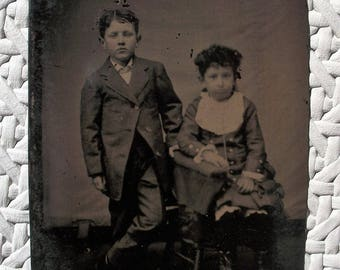 Tintype Little Lord and Lady