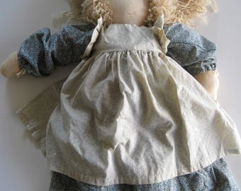 Vintage Doll HAND MADE MUSLIN Country Cottage Girl