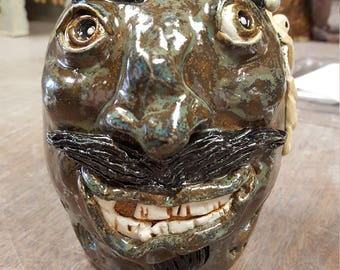 Anglerfish Face Jug