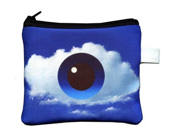 Eye Cloud Surreal Painting Zippered Pouch by SBMathieu