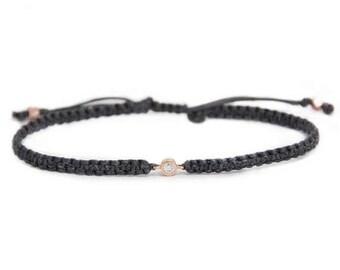 SALE Diamond Friendship Bracelet in 14k solid gold, minimalistic jewelry