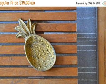 SALE 25% OFF vintage brass pineapple dish