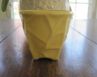 McCoy Yellow Small 3 1/4 Inch Vase McCoy Pottery
