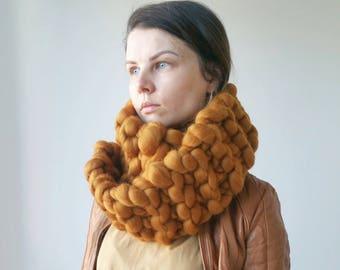 Knit Snood Chunky Oversized Collar