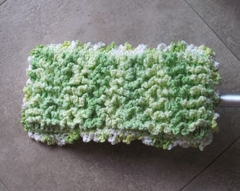 Swiffer Duster Cover ~ Variegated Green ~ Reversible