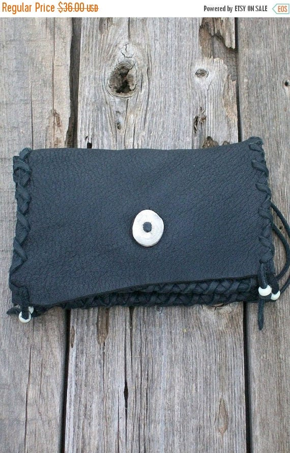 ON SALE Black leather clutch , Soft leather clutch , Leather phone bag