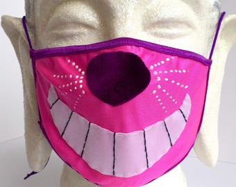 Cheshire Cat dust mask for Burning Man, EDC, motorcycles