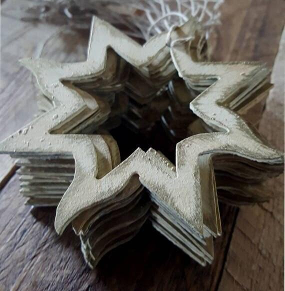 Christmas Ornament ~ Hand Painted Metal Star ~ Baby's 1st Christmas Tree Ornament, Hostess Gift, Stocking Stuffer, Mantel Decor, Decoration