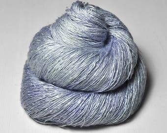 Under the blue moon OOAK - Tussah Silk Lace Yarn