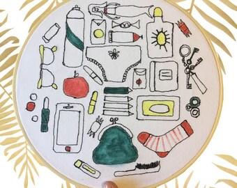 Fun wall art, embroidery hoop, home decor