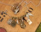 Supernatural Inspired Bottle Salt Angel Charm Necklace