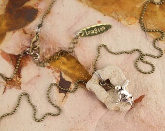 Rock Mountain Climber Imagine Charm Necklace