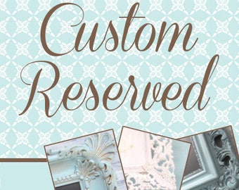 """RESERVED 44""""x20"""" Distressed Antique White Mirror"""