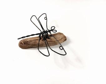 Dragonfly Wire Sculpture, Dragonfly Wire Art, Minimal Wire Sculpture, 542330475