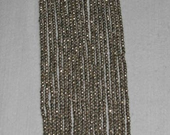 Pyrite, Pyrite Bead, Pyrite Faceted Bead, Natural Stone, Silver Bead, Spacer, Sparkle Bead, Full Strand, 3.5 mm, AdrianasBeads