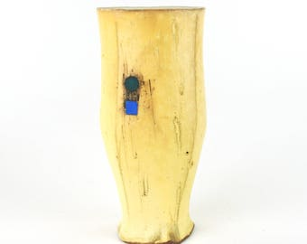 Tall Tumbler with Blue Square and Teal Circle