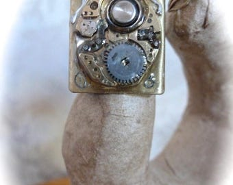 HUGE SALE SALE - Steampunk Ring Vintage Watch Movement Adjustable