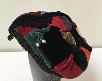 1940s Ladies Hat Patchwork Fascinator
