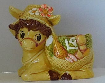 Vintage Donkey Planter by Relpo Made in Japan