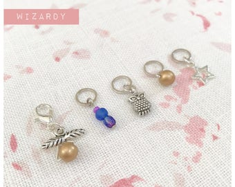 Progress Keeper & Stitch Markers set ..... Wizardy