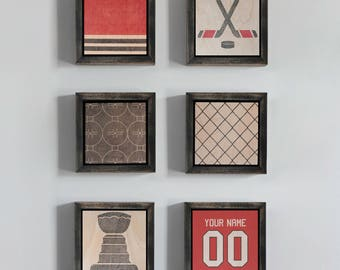 Chicago Blackhawks, Hockey, Sports, Wood Art, Wood Block, Wall Art, Home Decor, Blackhawks Baby, Nursery Decor, Kids Room, Interior Decor