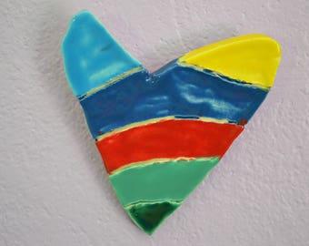 Blue Rainbow Heart