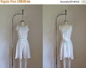 20% off SALE edwardian 1910s camiknickers / PLACID antique cami and bloomers set / XS