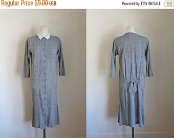 AWAY SALE 20% off 50 Percent OFF...last call // vintage 1950s wiggle dress - Abby Kent gray dress / xs (as is)