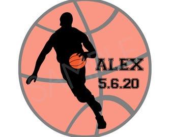 Bar Mitzvah Logo, Basketball Bar Mitzvah Logo, Sports Bar Mitzvah Logo, CUSTOM COLORS AVAILABLE, Custom Logo Design, Logo, Logos