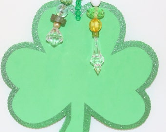 St. Patrick's Day Tablecloth Weights Oversized  Shamrocks Set of 4