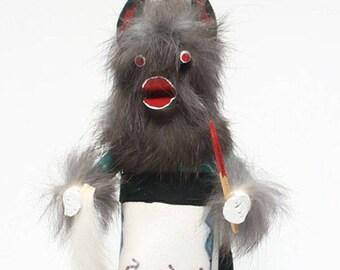 Wolf Kachina, First American Art, Hopi Kachina Doll, Native American Spirit Figurine