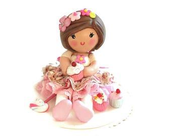Cupcake Party, Cake Topper, Cupcake Topper, Cupcake Party Decor, Pink Birthday, Cupcake Birthday Topper, First Birthday, Clay Cake Topper