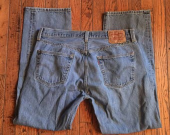 Vintage Levi's 501 Button Fly Jeans 36 x 32