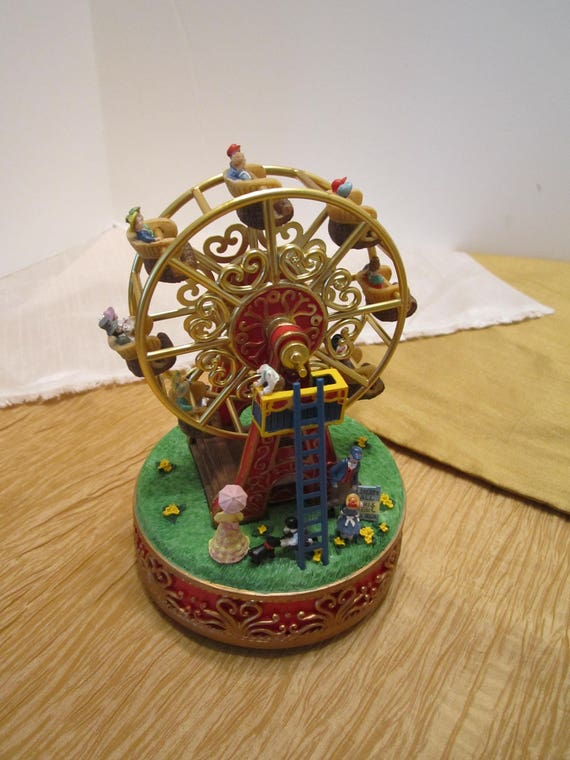 """Liberty Falls Ferris Wheel Music Box - Plays """"The Entertainer"""" - Used and Great Working Condition -"""