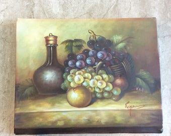 "Fruit Still Life Painting, 10""X8"""
