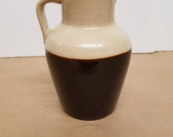 Brown and White Crock Pitcher