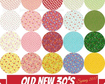 Fat quarter bundle from the Old New 30's Spring 2017 collection by Lecien - 20 Pieces