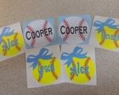 Personalized Baseball/Softball decal for helmets-baseball helmet decals/stickers-vinyl decal-baseball vinyl decal